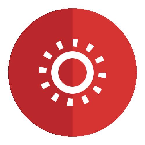 icono representativo de la luz solar