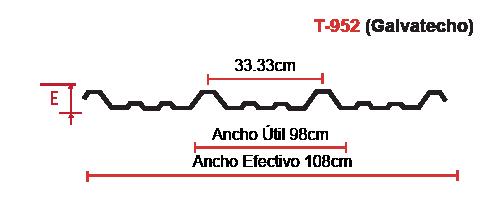 lamina-t-952-acanalada