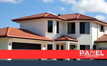 casa de fachada con teja