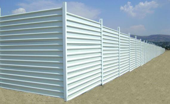 barda perimetral de lamina con acabado para muro pintro