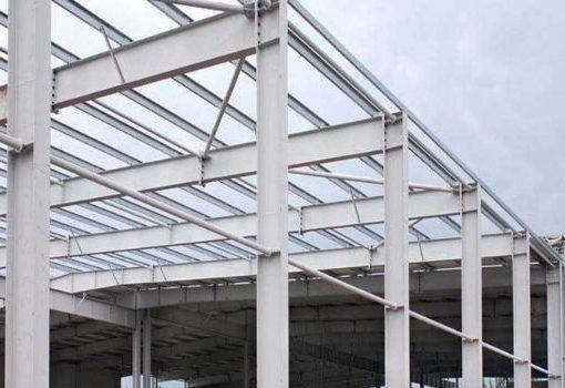 estructura metalica con vigas de acero