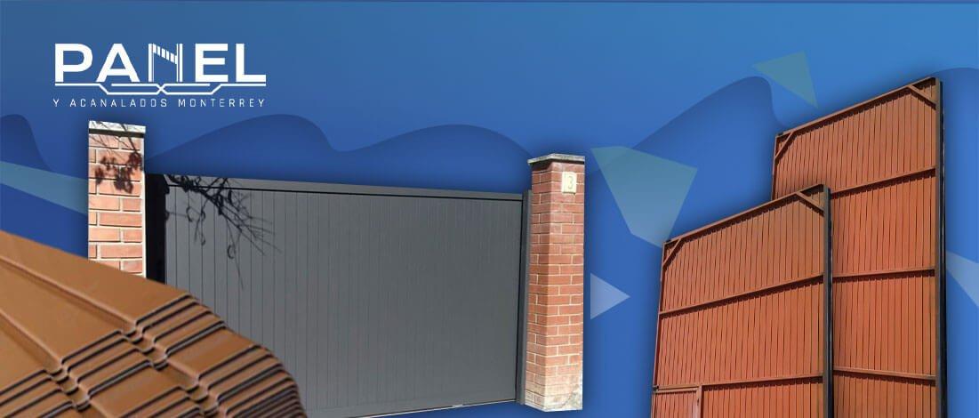 Ejemplos de puertas y portones de lamina tipo tablero.